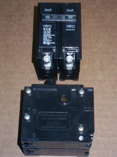 New EATON BR 2 pole 50 amp 120//240v BR250 Circuit Breaker C250 Cutler Hammer
