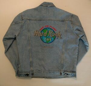 Vintage Hard Rock Cafe Authentic Small Denim Jean Jacket Save The Planet London