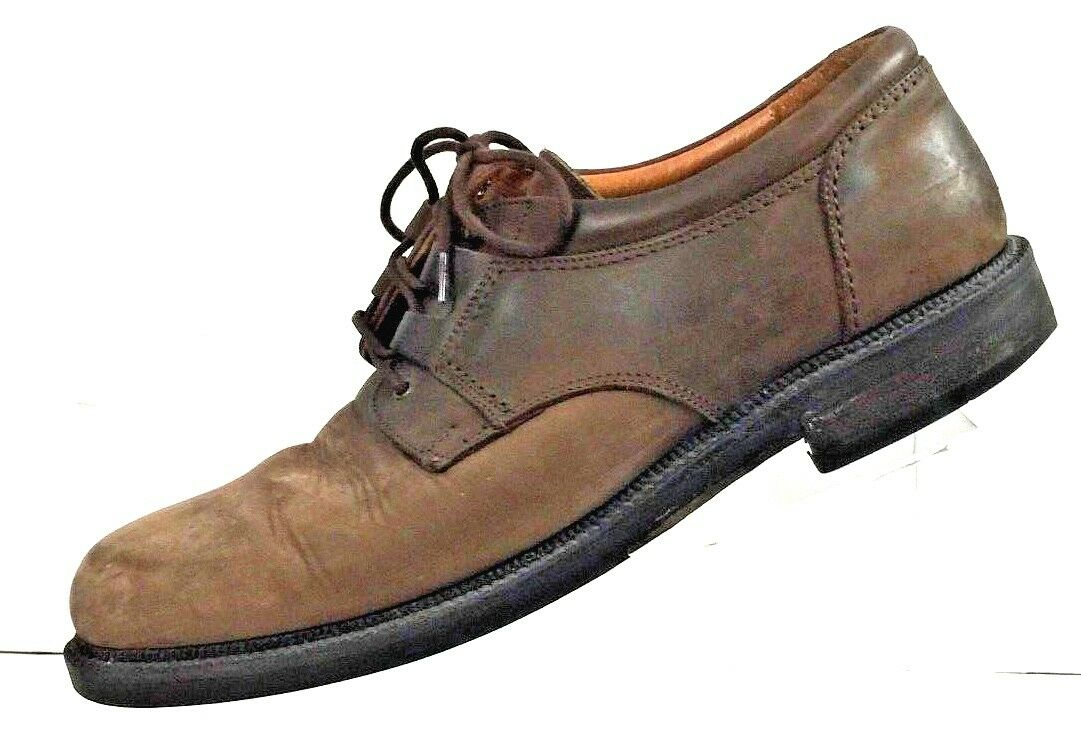 Johnston & Murphy Passport Mens Brown Oxfords Leather Made in  shoes Sz 9.5M