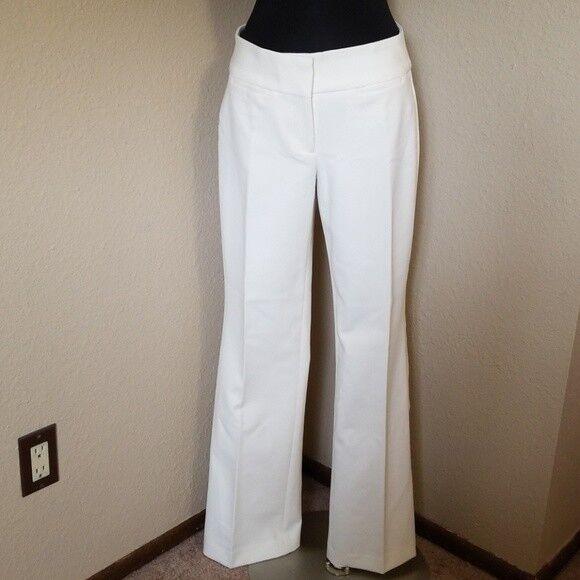 Talbots Curvy Ivory Dress Trousers Pants Size 2 New