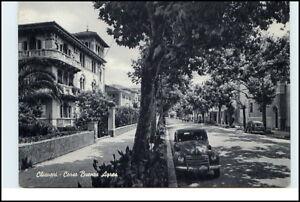 CHIAVARI-Italien-1956-Corso-Buenos-Ayres-Baum-altes-Auto-Villen-Haeuser-Italy