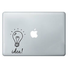 LAMPADINA idea Adesivo Apple MacBook Laptop Decalcomania Arte Grafica in Vinile Murale Divertente