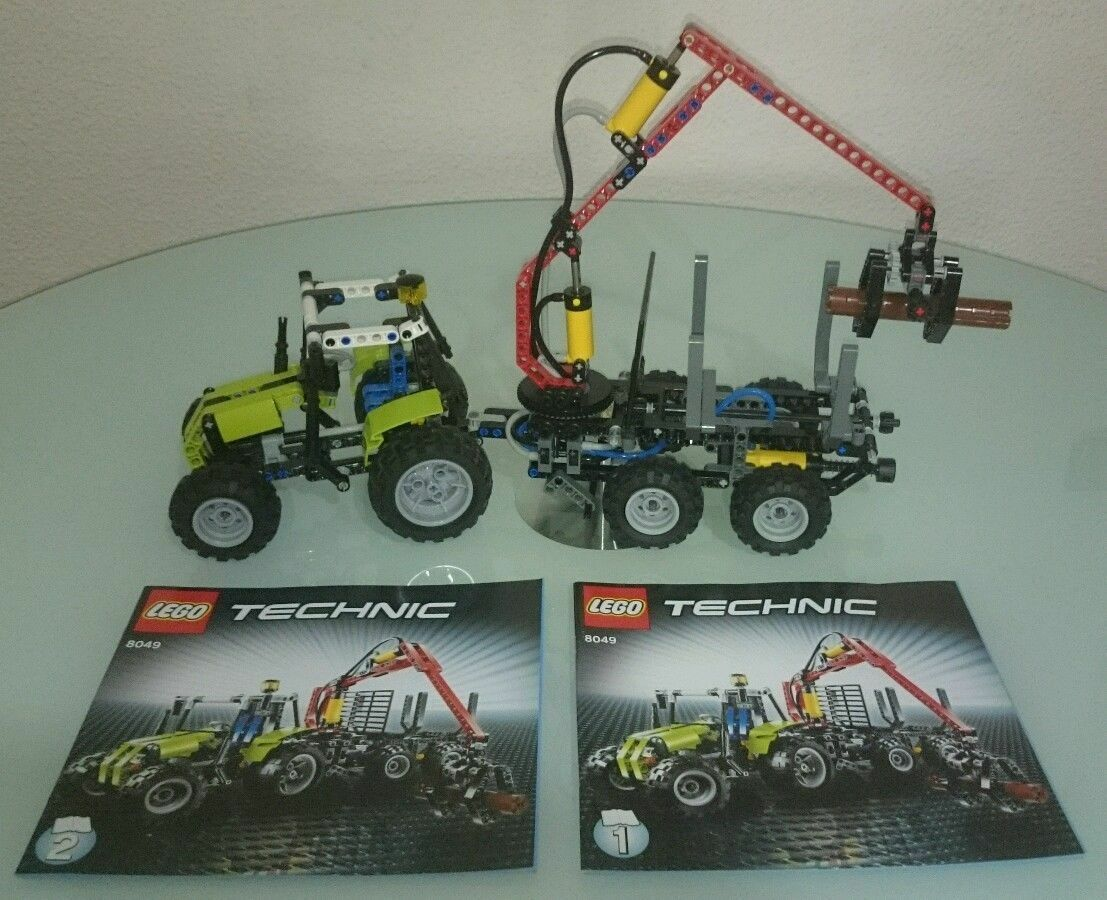 Lego Pneumatic action Logging Tractor 8049 Technic Tractor With Log Loader 8049