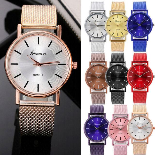 Ladies Casual Quartz Watch Mesh Band Stainless Steel Watch Analog Wrist Watch