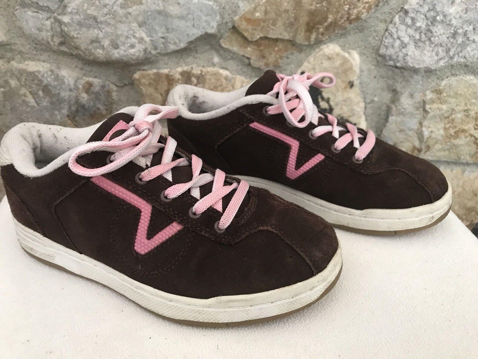 Vans Pink RILEY Brown Suede / Pink Vans Skate Casual Athletic Shoes Sneakers Women's 5.5 bf8cae