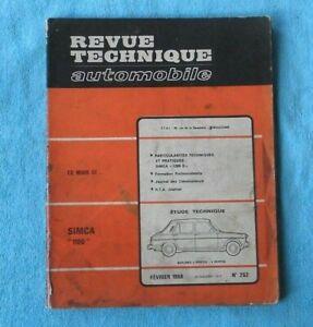 Humour Revue Technique Simca 1100 Simca 1200 Année 1968