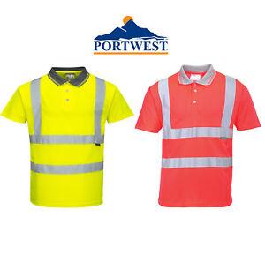 Portwest S477RERS Hi-Vis Short Sleeve Polo