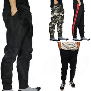 Jogger-Pants-Men-Jogging-Slim-Fit-Fleece-Sport-Gym-Workout-Sweatpants-Camo-Basic