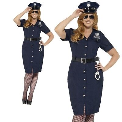 Curves NYC Cop Costume Fancy Dress Adult Size 20 22 Police