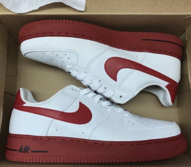 2004 Nike Air Force 1 Low White Varsity Red Black Supreme 306353 163 Sz 10.5
