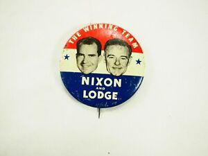 Nixon-y-Lodge-The-Ganadores-Equipo-Politico-Campaign-Pin-Back-Boton-1960