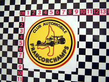 Francorchamps Circuit Sticker Autocollant - Citroen Matra Renault Simca 2CV DS