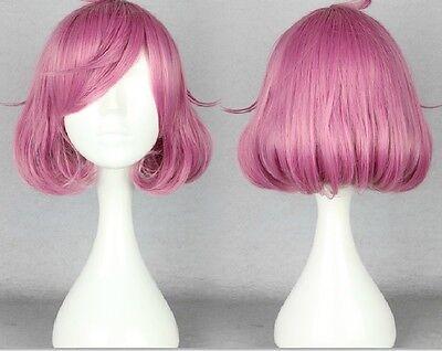 Noragami Kofuku Wavy Anime Costume Cosplay Mix pink purple Wig +Free CAP