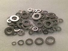 100 Stainless Steel Imperial Washers Assortment for UNF UNC BSF BSW bolts & nuts