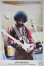 "JIMI HENDRIX ""TTG STUDIOS 1968"" POSTER FROM ASIA - Jimi Playing Guitar In Studio"