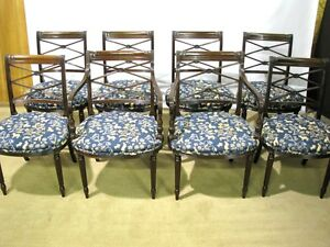 Set-of-8-Vintage-English-Made-Regency-Style-Dining-Chairs-Solid-Mahogany