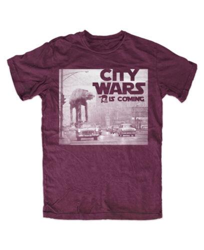 City Wars m1 T-shirt Bourgogne Culte, Fun Drôle