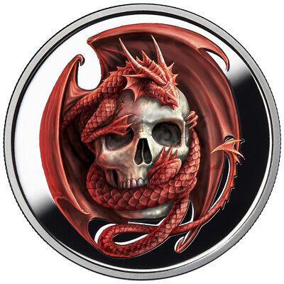 1 OZ SILVER COIN ANNE STOKES DRAGON COIN PROOF NOBLE DRAGON 3RD IN SERIES #COA