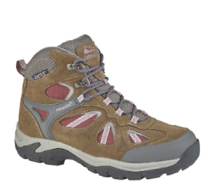 Johnscliffs Ladies Womens Brown Suede Adventure Waterproof Hiking Boots L575B