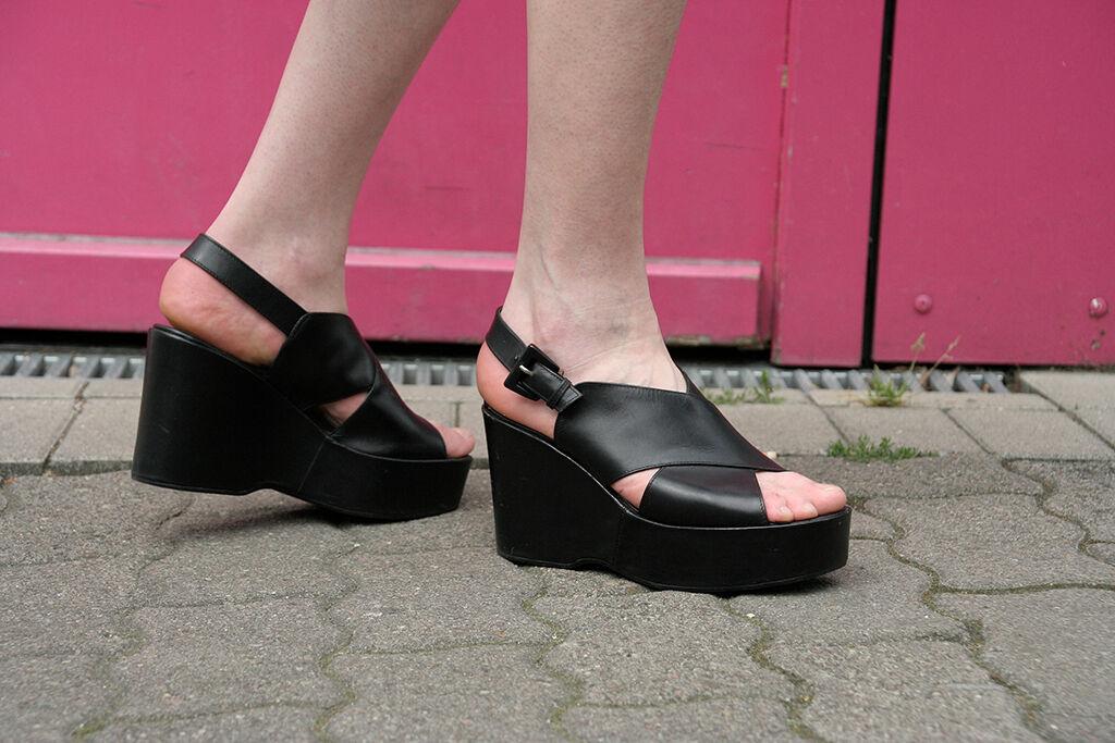 Andiamo Plateau Scarpe Scarpe Sandali Taglia 40 True Vintage woman shoes sandals