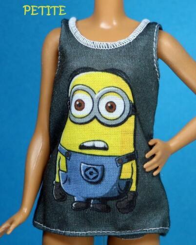 Barbie Fashionistas Despicable Me Minion Tank Shirt CURVY TALL PETITE REGULAR