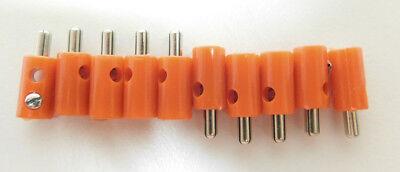 10 Muffen rot//schwarz für Modellbahn NEU 10 H0-Stecker