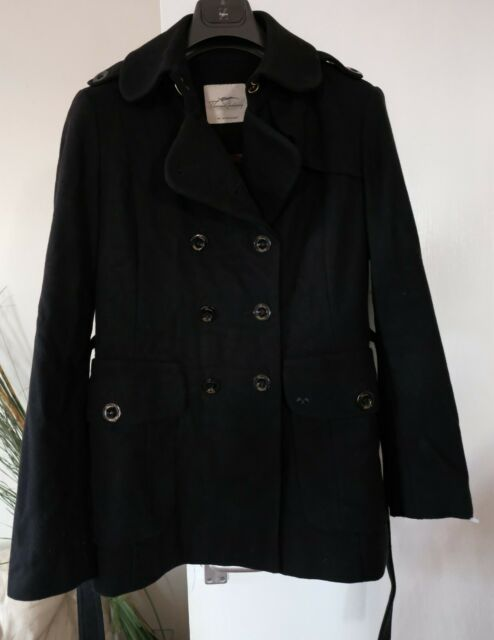 Details about Burberry Trench Coat women (black size 10)