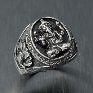 Vintage Silver Hindu Amulet Ring