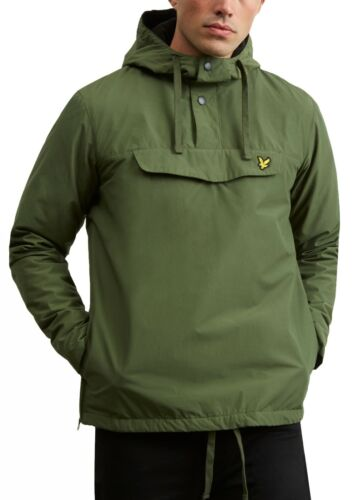Lyle /& Scott Mens Overhead Jacket Hooded Casual Anorak Pull Over Woodland Green