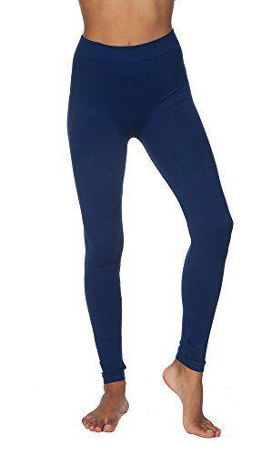 Junior Damen Nahtlos Nylon Stretch Yoga Weich Glatt Leggings