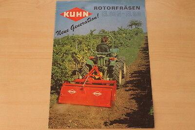 Sammlung Hier 162022) Kuhn Rotorfräse El 50 60 N Prospekt 05/1981