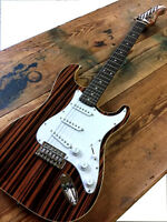 2017 BURL MAPLE SOLID STRAT STYLE 6 STRING ELECTRIC GUITAR