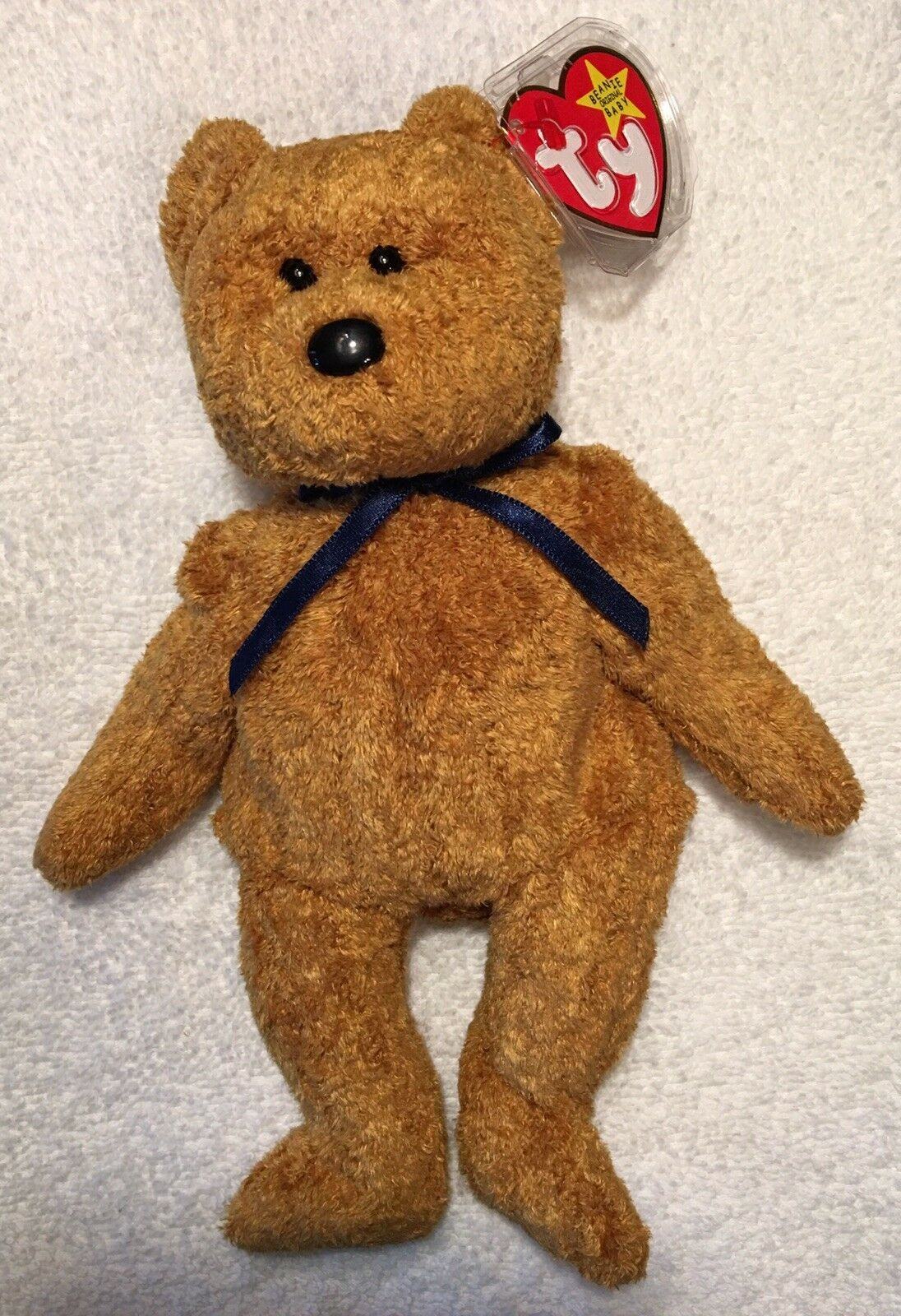 """a9e60763cb9 RARE """"FUZZ"""" TY BEANIE BABY NEW WITH ERRORS AND UNIQUE HOLOGRAM TUSH TAG"""