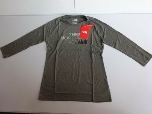 North Face Women/'s 3//4 Sleeve Hertiage Baseball Tri-Blend T Shirt NWT 2019