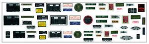 Nuevo-Motor-Bay-Decal-Set-para-1-8-Escala-Revell-Monogram-e-tipo-Jaguar-Modelo-Kit