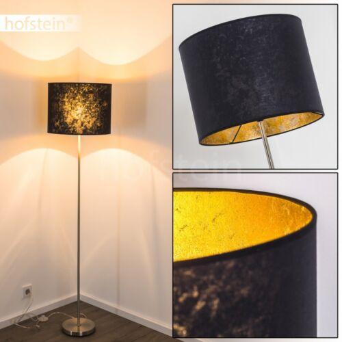 Steh Lese Lampen Stand Boden Leuchten Flur Wohn Schlaf Zimmer Stoff schwarz//Gold