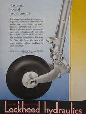 1/47 PUB LOCKHEED HYDRAULICS UNDERCARRIAGE BLACKBURN FIREBRAND FLEET AIR ARM AD