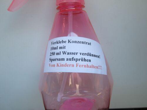 Montage Flüssigkeit  mit Sprühflasche.