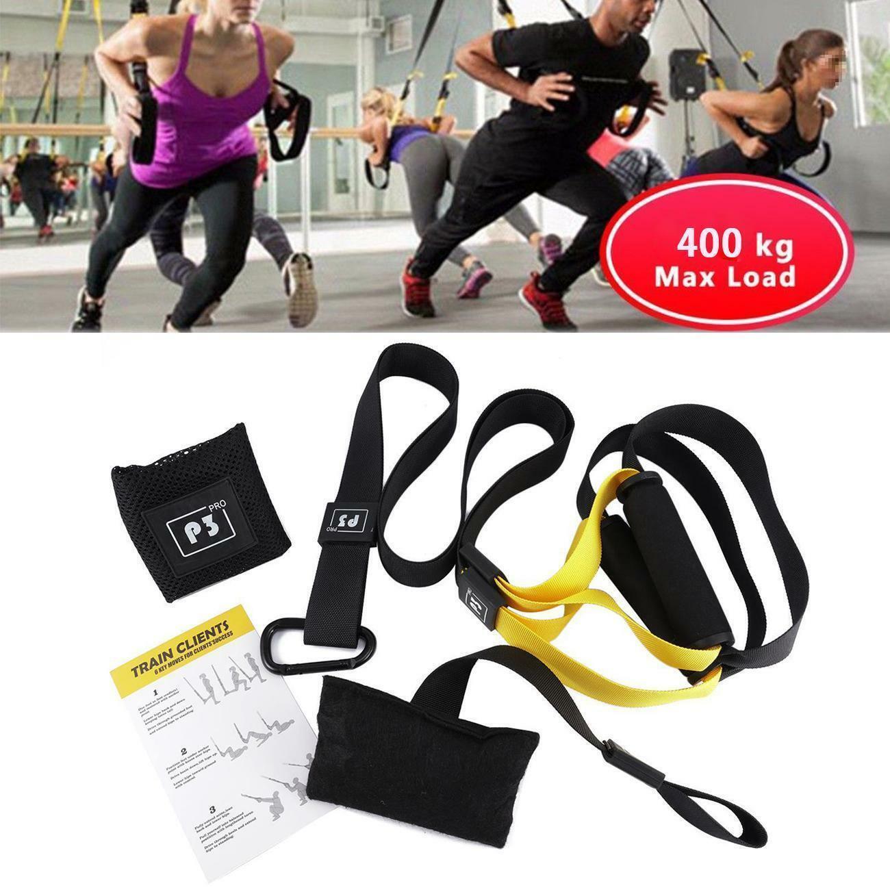Resistance Training Straps Crossfit Workout Sport Home Fitness PRO 1 2 3 TRE