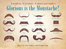 Glorious is the Moustache! Tash Collection Old Barber Shop Medium Metal/Tin Sign