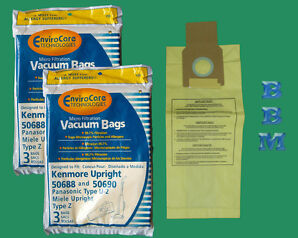 Kenmore Upright 50688 And 50690, Panasonic Type U 2 And Miele Upright Type Z Vacuum Bags Microfiltration With Closure 18 Bags