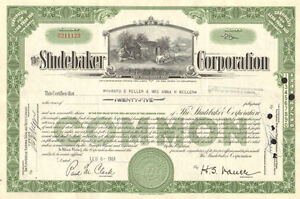 The-Studebaker-Corporation-1940s-1950s-vintage-auto-car-green-stock-certificate