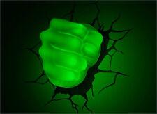 Marvel AVENGERS Incredible HULK FIST/HAND 3D Art Deco Wall LED Night Light FX