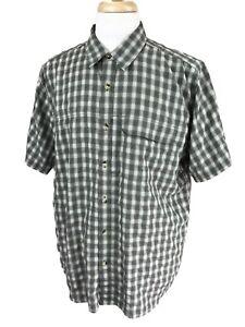 North-Face-Men-039-s-Short-Sleeve-Hiking-Fishing-Outdoor-Green-Check-Shirt-XL