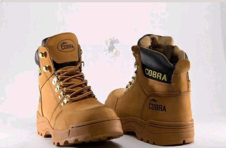 Men Work Boot Cobra C707 Waterproof Tan Leather Goodyear Welt Construction New.