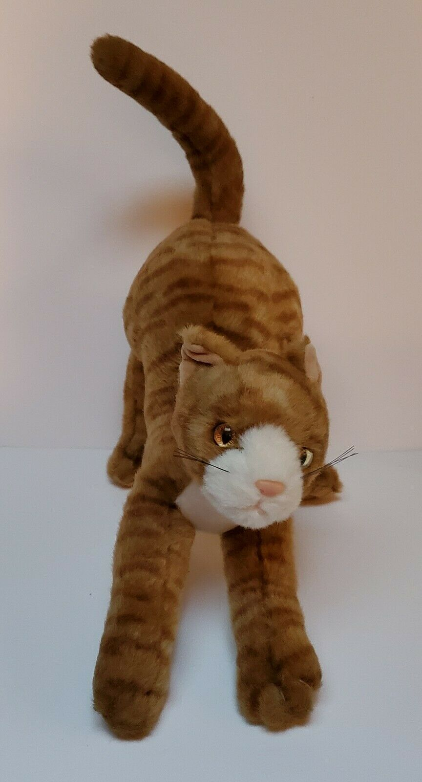 TY Classic Stretch Tabby Cat 1999 Stuffed Animal Plush Toy Ginger Striped Kitten