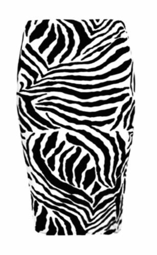 New Women Ladies Body cone Zebra Print  Pencil Midi Skirt