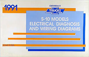 1991 Chevy S-10 Pickup and Blazer Wiring Diagram Manual ...