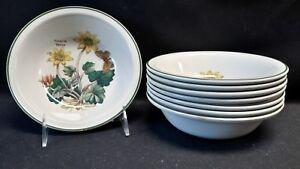 Wedgwood-England-Florabunda-Ficaria-Verna-Set-of-8-Cereal-Bowls