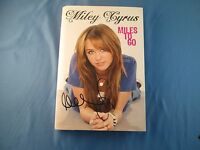 Miley Cyrus Miles To Go Signed Book Coa Autograph Hanna Montana 2009